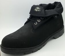 Timberland Mens Basic Roll Top Black Lather Boots UK 10.5 *