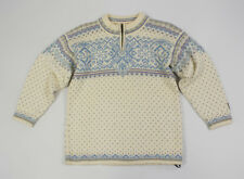 DALE OF NORWAY Women's Zip Neck Warm Wool Sweater Jumper Pullover Size XS