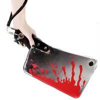 Chrome Bloody Cleaver Clutch Purse Kreepsville Horror Refelective Handbag