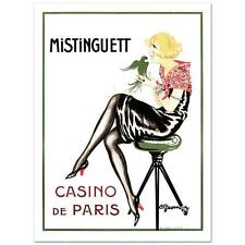 """""""Mistinguett-Parrot"""" Hand Pulled Lithograph by the RE Society Orig. by Gesmar"""