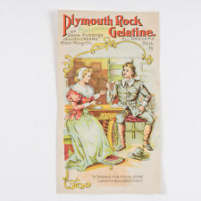 Plymouth Rock Gelatine Victorian Advertisement Card Miles Standish