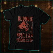 Whiskey A Go Go Blondie Poster 70s Retro T-Shirt Size S-2Xl