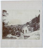 Gardiner's Battery, Gibraltar. Original-Albumin-Photographie von 1879