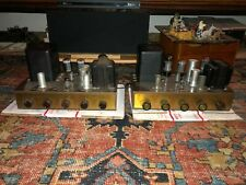 Pair Vintage Eico Hf20 Integrated Tube Receiver Amplifiers Hf20