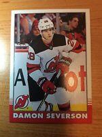 O-Pee-Chee 2020-2021 DAMON SEVERSON RETRO HOCKEY CARD #447 NEW JERSEY DEVILS
