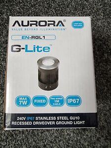5 x Aurora EN-RGL1 - IP67 Stainless Steel GU10 Recessed drive over ground light