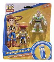 Imaginext Toy Story 4 Disney Pixar Buzz Lightyear & Jessie Figures