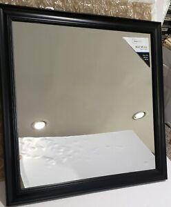 "Beveled Wall Mirror, 16"" x 16"", Black, Mainstays"