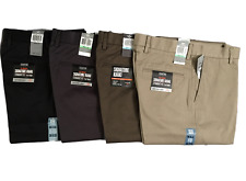 DOCKERS LEVI'S D2 SIGNATURE KHAKI STRAIGHT FIT FLAT FRONT PANTS/TROUSERS GENUINE