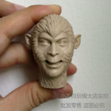 1/6 scale The Monkey King Head Sculpt unpainted The Journey to the West smile