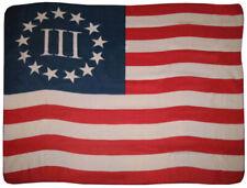 "Betsy Ross Nyberg 3% Three Percent Flag 50x60 Polar Fleece Blanket Throw 50""x60"""