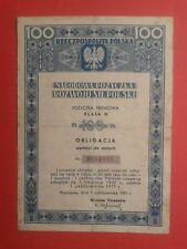 Obligacja Narodowa Pozyczka Rozwoju sil Polski 1951 r.-National Bond of the Deve