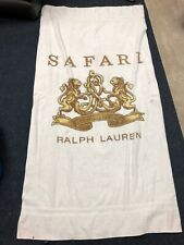 POLO RALPH LAUREN SAFARI BEACH TOWEL WHITE