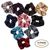 Velvet Scrunchies For Hair - 10-Pack Velvet Hair Scrunchie Elastics Hair Ties