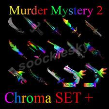 Roblox Chroma SET + MM2 Murder Mystery 2 NEU Knife Messer Gun Item Waffe Item