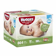 Huggies Natural Care Fragrance Free Wipes with Carrying Case, 864 ct.
