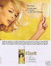 Publicité Advertising 066 1965 L'Oréal satin laque