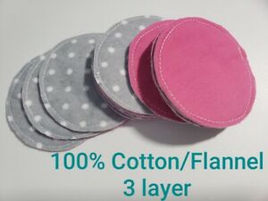 12 Reusable Makeup Remover Pads, Washible Cleansing Cloths Rounds New Handmade