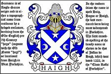 PERSONALISED FRIDGE MAGNET - YOUR FAMILY CREST, COAT OF ARMS & SURNAME ORIGINS