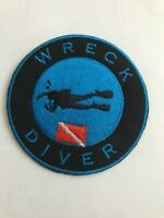 "Scuba patch -Wreck Diver 3"" round"