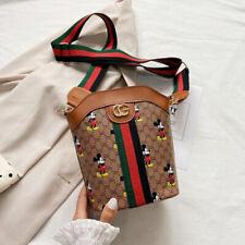 Women Mickey Mouse Cross Body Messenger Shoulder bucket Bag Handbag Satchel Bags