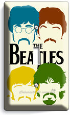 THE BEATLES POP ART JOHN GEORGE PAUL RINGO SINGLE LIGHT SWITCH COVER HOME DECOR
