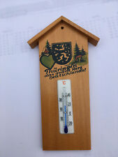 schönes altes Wandthermometer aus Holz mit Glasskala - für innen-außen geeignet