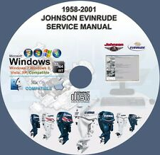 Johnson Evinrude Outboard Service Repair Manual 1958-2001 1-300 hp CD