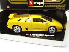 Burago 1/18 - Lamborghini Diablo 1990 Amarillo