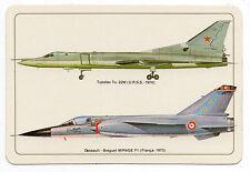 1985 Portugese Pocket Calendar Tupolev Tu-22M & Dassault-Breguet Mirage F1