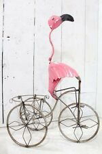 "37"" Pink Flamingo on a Trike Pot Holder Plant Container"