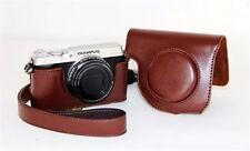 Coffee Retro Vintage Leather Camera case bag Cover for Olympus SH1 SH2 SH-1/SH-2