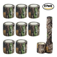 8 Roll 4.5M Military Camo Stretch Bandage Camping Camouflage Tape Rifle/Gun Wrap