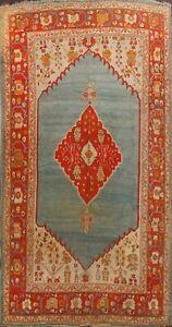 Pre-1900 Antique Vegetable Dye Authentic Oushak Turkish Oriental Area Rug 8'x12'