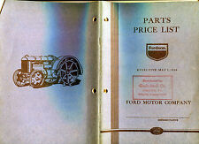 """1936 Fordson Tractors """"Parts Price List"""" 40-page Booklet"""
