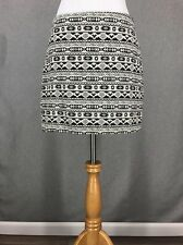 H&M Skirt 4 Ivory Geometric Skirt Black Southwestern Aztec Career Mini