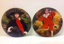 "Poole Pottery Pair ""Artist"" Display Plates."