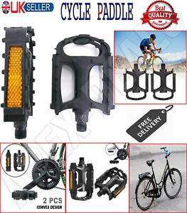 "1 Pair 9/16"" Bicycle Road MTB Mountain Bike Pedals Aluminum Alloy Flat Platform"