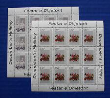 Kosovo UNMIK (#16, 17) 2003 Christmas MNH sheet set