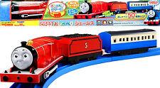 TOMY PLA RAIL Plarail TRACKMASTER OT-03 Talking James With Blue Coach Car