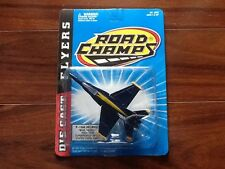 ROAD CHAMPS 1997 DIE CAST FLYERS SERIES F-18 BLUE ANGELS  # 62031 FACTORY SEALED