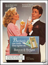 1986 vintage ad for Benson and Hedges cigarettes