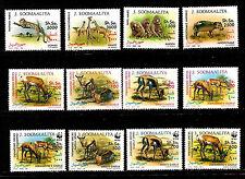 SOMALIA Serie A152 12T nuevos #607-618 Gacelas y fauna sauvage.WWF 314B