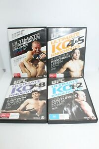 UFC ULTIMATE KO KNOCKOUTS VOLUMES 1,2,3,4,5,6,7,8,9 COMPLETE MINT - FREE POSTAGE