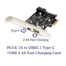 PCI-E PCI Express to USB3.1 Type C +USB 2.4A Fast Charging Expansion Card