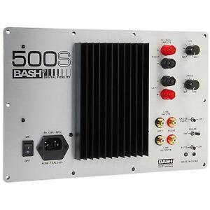 Bash 500S 500W Digital Subwoofer Amplifier (110V ONLY)