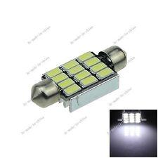 1X White 39MM 12 LED 5630 Festoon Non-polar Error Free Light Lamp Car Bulb I225