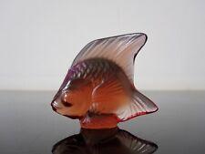 Lalique France : Petit poisson en cristal.