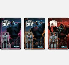 """Iron Giant Set of 3 pcs 3 3/3"""" ReAction Figures by Super 7 With Hogarth"""