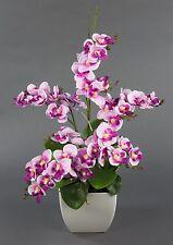 Orchideen-Arrangement rosa-pink im weißen Dekotopf JA künstliche Orchidee Blumen